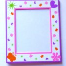 Girly Picture Frame with Butterflies, Stars, Flowers and Hearts - Brand New