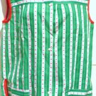Cobbler Apron As New by Izzy Sz Small -Green White and Red