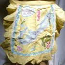 1950s Sunshine Yellow Half Apron - Bermuda Islands Motif