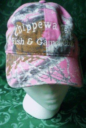 NWT Chippewa Bay Fish n Game Club Ladies Cap in Pink Camouflage