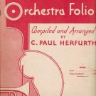 A Tune a Day Orchestra Sheetmusic Folio for Violin Arranged by C P Herfurth 1951