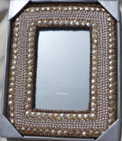 Pier One Imports India Beaded Picture Frame - NIB 5x7 Inch