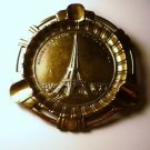 Souvenir Eiffel Tower Paris France Brass Ashtray