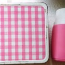 1970s Thermos and Metal Lunchbox Includes Straw Built in a Cup