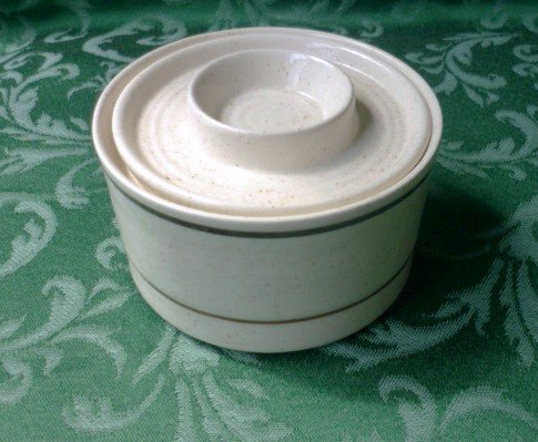 Covered Sugar Bowl - Brendan Erin Stone Arklow Ireland - Rare and Vintage