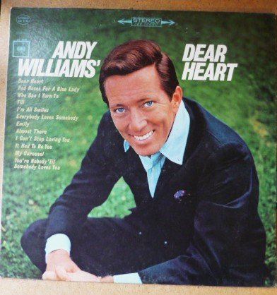Andy Williams Dear Heart Stereo cl 9183 lp