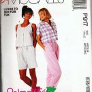 Uncut McCalls P917 Pattern - Top Pants Shorts Misses Medium