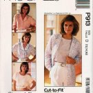 McCalls Uncut Pattern P913 3518 Cut-To-Fit Blouses Size 12-14-16