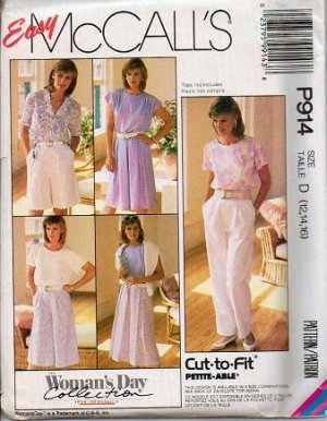 McCalls Uncut Pattern 3519 P914 Szs 12 14 16 Skirt Culotte Pants - Womans Day Collection