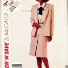 McCalls Uncut Pattern 4387 Jacket and Skirt Sizes 8-10-12