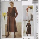 McCalls Uncut Pattern 5028 Vest Jumpsuit Dress Misses Sizes 8 10 12