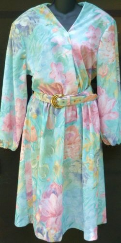 Two Dresses - One is Fads Size XL and Other is 20 Teal and Floral