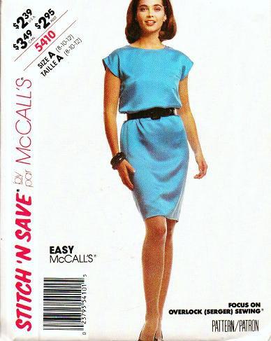 McCalls Uncut Easy Pattern 5410 Misses Sleeveless Dress Sizes 8 10 12
