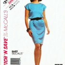 McCalls Uncut Easy Pattern 5410 Misses Sleeveless Dress Sizes 8 10 12