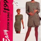 McCalls Uncut Pattern 6415 Sizes 14-16-18 Dress and Unlined Jacket