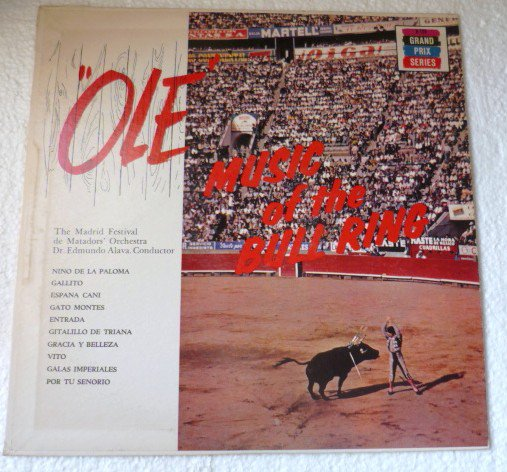 Ole Music Of The Bull Ring lp - The Matadors Orchestra k-125 NM-