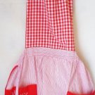 Vintage Bib Style Christmas Apron - Exc Cond- Red White and Green