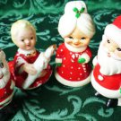 Vintage Santa Claus and Mrs Santa Claus Salt and Pepper Shakers and Figurines