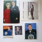 President Ronald Regan Paper Memorabilia: Photo, Post Card, Documents