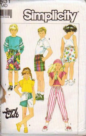 Simplicity Uncut Pattern 7531 Boys Girls size Medium Shorts or Pants
