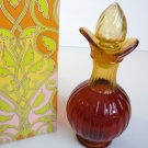Avon Amber Cruet Bottle Bird of Paradise Foaming Bath Oil 6 Fl Oz Unopened