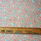 Petite Floral Print Fabric Material 44 x 25 inches Remnant