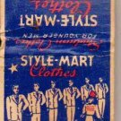 Style Mart Clothes Matchbook Cover - Vintage