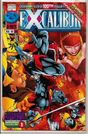 X-Men Excalibur Comic Book Double Size 100 Issue Marvel NM - August 1996