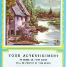 Salesman Calendar Sample Vintage 1956 - Home by the Brook Full Moon