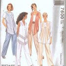 McCalls Uncut Pattern 7600 Top, Pull-on Pants, Vest XS-M