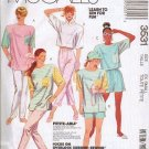McCalls Pattern 3531 Uncut Misses Size XS 6-8 Top Pants Shorts