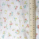 Dainty Flowers on White Textured Fabric Material 80x45+