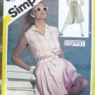 1983 Simplicity Pattern 6036 Esprit Pleated Shorts Shirt Size 8