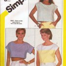 Simplicity Pattern 6328 Sizes 6-8 Pullover Top in 3 Lengths