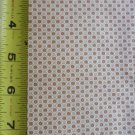 Fabric: Small Tan Flower Pattern Material Remnant 44 x 19 inch
