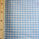 Med Blue Gingham fabric Material 34 x 31 inch Remnant