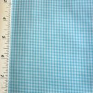 Aqua Blue Mini Gingham fabric Material 30 x 22 inch Remnant