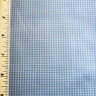 Blue Mini Gingham Fabric Material 37 x 44 inch Remnant