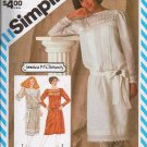 Simplicity Pattern No 6155 Misses Size 8 Dress, Sash and Slip