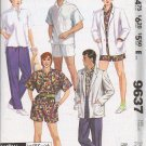McCalls Pattern 9637 Women or Mens Jacket Shirt Pants Sz Small