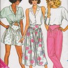 Butterick Pattern 3773 Culottes Pants Flared Skirt Ladies Size 6-8-10