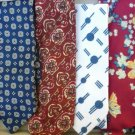 Lot of Six Neck Ties Varying Widths, Lengths and Eras