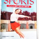 Sports Illustrated Magazine February 7 1955 Tenley Allbright Dog Races