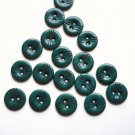 Set of 18 Green Plastic Vintage Buttons 3/4 Inch
