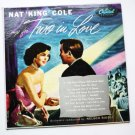 Nat King Cole Sings for Two in Love lp t420 Capitol at Left