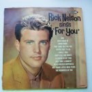 Sings for You lp by Rick Nelson dl 4479