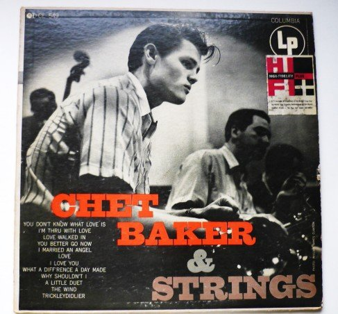 Chet Baker and Strings 1950s lp CL 549