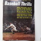 1961 Baseball Thrills Sports Action Magazine w Mickey Mantle Roger Maris