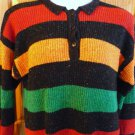 Gloria Vanderbilt Long Sleeve Sweater Vintage 1980s Multi Stripe Sz Med-Large