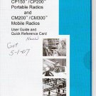 NEW Motorola CP200/CP150/CM200/CM300 User Guide CD